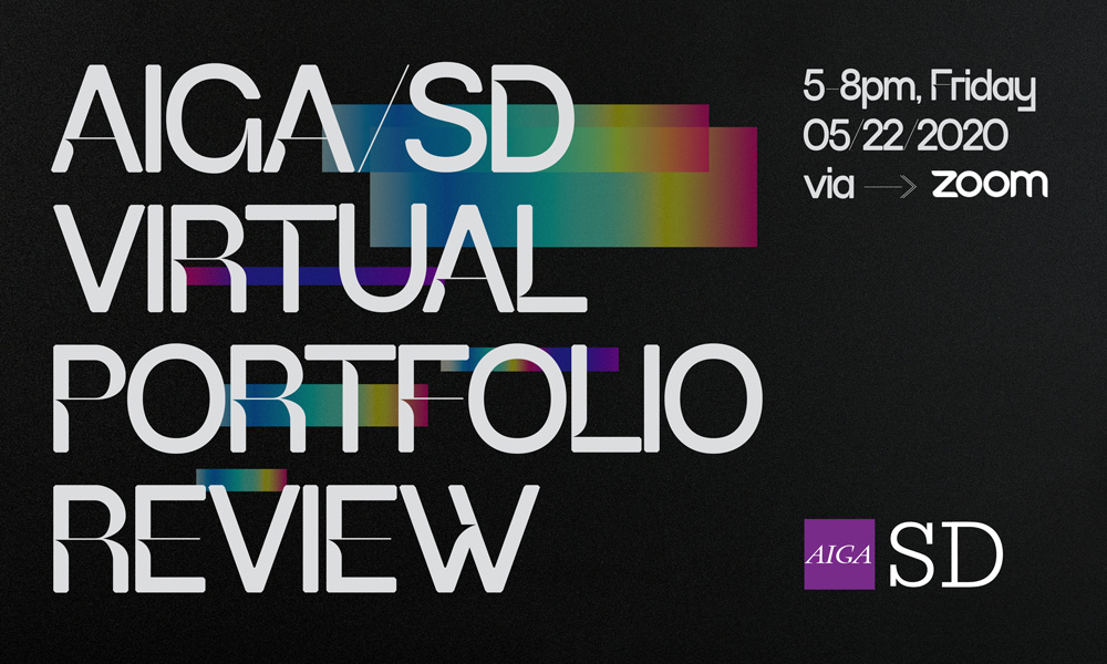 2020 Portfolio Review. Friday, May 22, 2020, 5-8pm Online via Zoom.