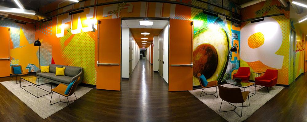 Design and Architecture at QDOBA Headquarters - Flavor Central - Interior